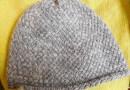 Kurze Beanie-Mütze aus Merinowolle