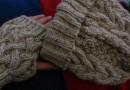 Aran-Mütze und Handschuhe