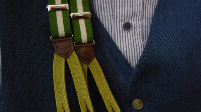 Frisches Grün am Hosenbund