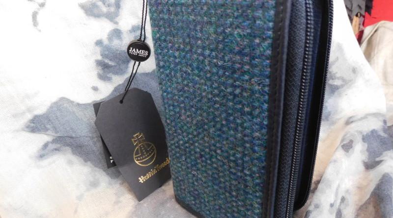 Geldmappe aus Harris Tweed