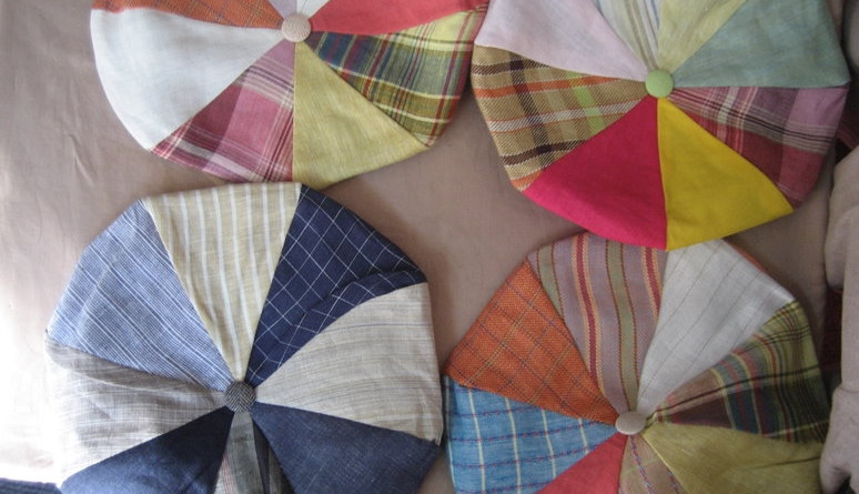 8-Piece Linen Caps