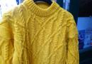 Safrangelber Pullover